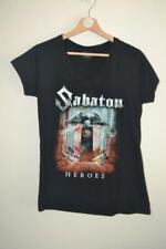 WOMENS BLACK SABATON HEROES EUROPEAN TOUR 2014-2015 T-SHIRT LARGE