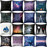 AS_ Letters Starry Sky Forest Throw Pillow Case Sofa Cushion Cover Home Decor My