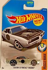 Hot Wheels 2017 Muscle Mania #1/10 Custom '67 Firebird #Dtw82 1:64 Scale Diecast