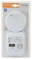 CARBONE monoxyde et détecteur de fumée Set Maison Sécurité &