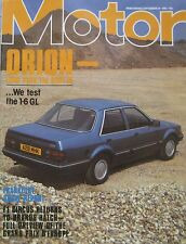Motor magazine 24/9/1983 featuring Ford Orion road test