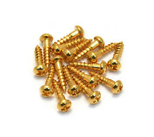 "(16) Gotoh Gold Phillips 3/8"" Guitar/Bass Tuner Mounting Screws GS-3376-002"