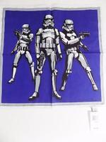 Psycho Bunny Star Wars Men's Storm Troopers Pocket Square Blue NWT MSRP $60