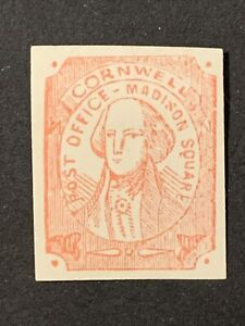 N3/3 US Stamp scott? Local Cornwell post office - Madison square MHOG Great Coll