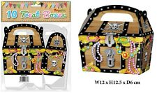 10 Pirate Treasure Chest Party Boxes - Sweet Mini Treat  Food Loot ,Prize Gift
