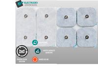 Electrodes génériques snap pour Compex (EMS/TENS) carrées et rectangles