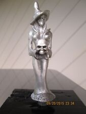 rare sexy evil sorceress witch with skull ratrod hotrod car hood ornament