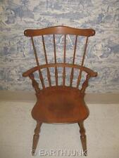 "Ethan Allen Comb Back Arm Chair Heirloom Nutmeg Maple  5"" Taller than 6040"