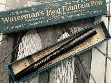 More details for antique 1920s waterman 52 ideal black early bchr flex fountain pen with box