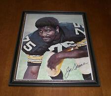 Steelers Joe Greene Framed Signed Color Print