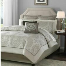 Madison Park Tiburon Queen Size Bed Comforter Set Bed In A Bag - Taupe, Jacquard