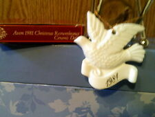 Vintage 1981 Avon Ceramic Christmas Dove Ornament-New In Box-Free Shipping