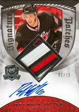 08-09 The Cup SIGNATURE PATCHES 01/75 Made! Brandon SUTTER - Hurricanes