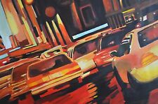 THE CARS . Set Of Unique 4 Acrylic paints by Mario A. Salazar
