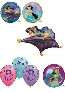 Aladdin & Princess Jasmine Foil Helium Balloons Party Ware Decoration