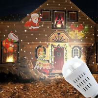 Outdoor Christmas Lights LED Laser Projector Light Fairy Snowfall Lamp Xmas Bulb