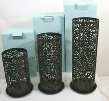Partylite Thai Inspiration Pillar Sleeves Candle Holders Set of 3