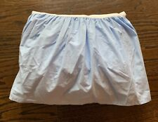 Pottery Barn Kids Twin Light Blue Chambray Ruffle Bed skirt