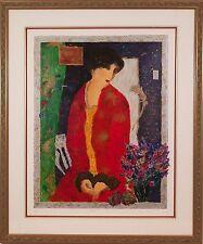 "Roy Fairchild-Woodard (British, 1953-) ""Anna"" Original Serigraph Print Signed"