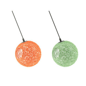 2pcs Rattan Wicker Ball Globe Ceiling Pendant Lamp Shade with Hole