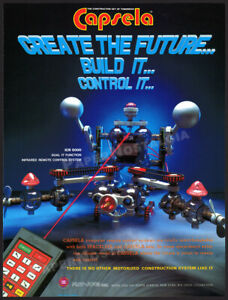 Play-Jour CAPSELA__Original 1986 Trade AD insert / flyer__ ICR 5000__Spacelink
