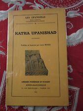 ancien livre louis renou katha upanishad 1943 les upanishad 1943 bouddhisme