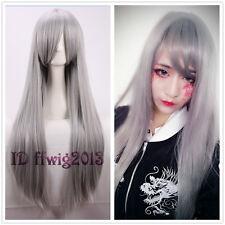 Zootopia Rabbit Judy/CLANNAD Sakagami Tomoyo 80cm long grey straight cosplay wig