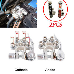 Pair Car Battery Terminal Connector Kit Protection Adjust Switch Clamp Tool