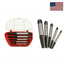 5PCS Screw Extractor Easy Out Set Drill Bits, Guide Broken Damaged Bolt Remover