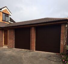Insulated Electric Roller Garage Door Fitted Autoroll Composite Installed Remote