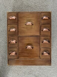 Apothecary Cabinet Vintage Wood Multi Drawer Storage