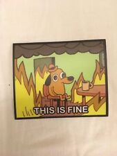 "This Is Fine dégénèrent Sticker-High Quality 3x2.5"" Obey Andre the Giant Size"
