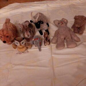 Konvolut alte original Steiff-Tiere gemischt in gutem Zustand für Sammler o.ä.