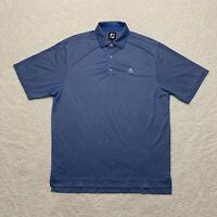 Footjoy Polo Shirt Adult Large Short Sleeve Blue Golfing Golfer Men's Casual
