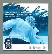 CANADA 2008 Booklet - IIHF WORLD CHAMPIONSHIP HALIFAX (10 x 52c) - Complete MNH