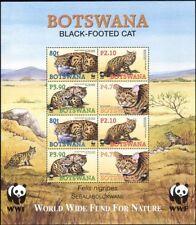 Botswana 2005 WWF/Black Footed Cat/Nature/Wildlife/Conservation 8v sht (n15041)
