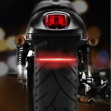 Multifunctions LED Motorcycle Strip Light Brake Tail Turn Signal License Plate