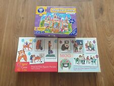 Puzzle Bundle VGC Orchard Toys, Tiger that came to tea, Mog the Cat