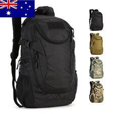 25L Waterproof black tactical bag Military Backpack Rucksack Gear Assault Pack