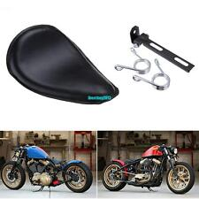 Cuir Noir Solo Selle Siège & Ressorts & Support Pour Harley Honda Suzuki Chopper