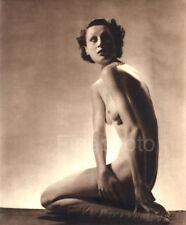 1935 Original Vintage FEMALE NUDE England Art Deco Photo Gravure By JOHN EVERARD