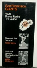 1970 SAN FRANCISCO GIANTS PRESS RADIO TV GUIDE WITH MAYS & MCCOVEY ON COVER