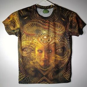 Space Tribe Psychedelic Trance T Shirt MEDIUM Actual S Snakes & Eyes Super Cool