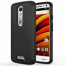 Moto Droid Turbo 2 Case DropProof Silicone Bumper Anti slip Shock absorbance New