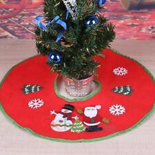 Christmas Tree Skirt Apron Base Cover Snowman Xmas Holiday Decoration Ornaments