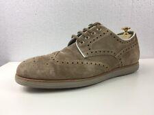 SANTONI Brown/Beige Made In Italy Men`s Dress Shoes 9M