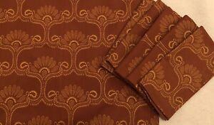 "Williams Sonoma Set of 6 Cotton Napkins Batik Floral Paisley Spice/Gold NWOT 20"""