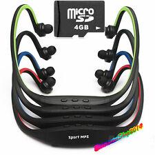 Lettore MP3 Sport Cliclismo Jogging cuffie senza Fili + MICRO SD 4GB
