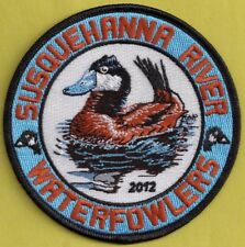"""Pa Pennsylvania Fish Game Commission NEW 2012 SRWA Ruddy Duck 4"""" Waterfowl Patch"""