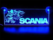 24 Volts SCANIA With GRIFFIN ENGRAVED ILLUMINATING PLATES 24V/5W BLUE LED COLOR
